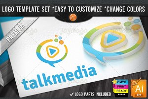 Chat Bubbles Play Talk Media Logo