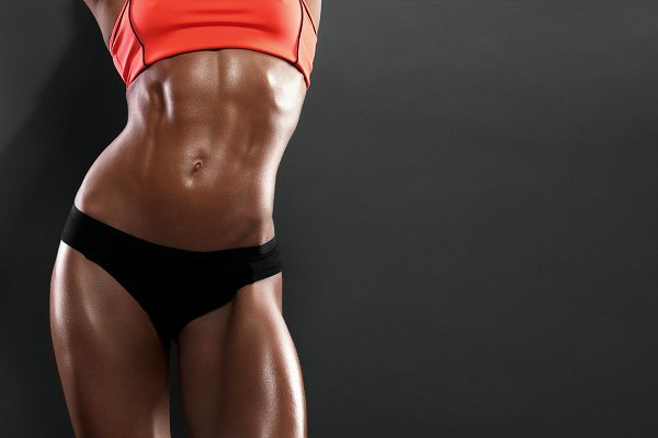 The body of a young athletic girl o…