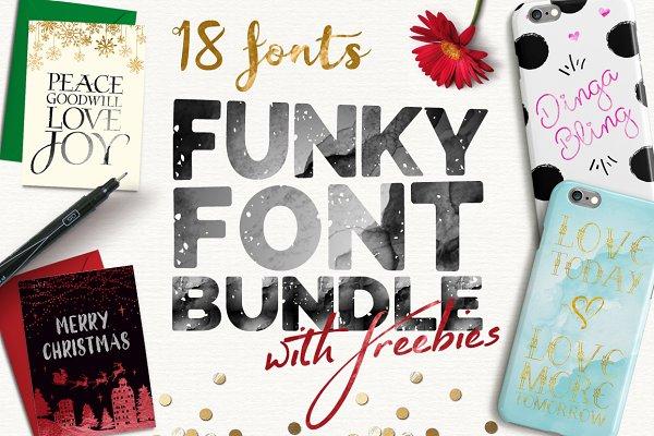 Funky Font Bundle + Extras (85% OFF…