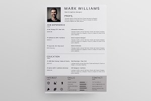 Clean Cv / Resume Template-V024