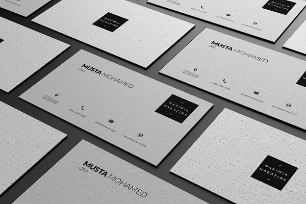 Clean Minimal Business Card - 07
