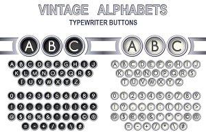 2 Silver Vintage Alphabets