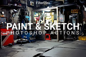 Painting & Sketch Photoshop Actions