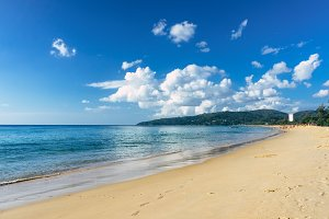 Beautiful sea view on Karon beach, Phuket, Thailand, Asia