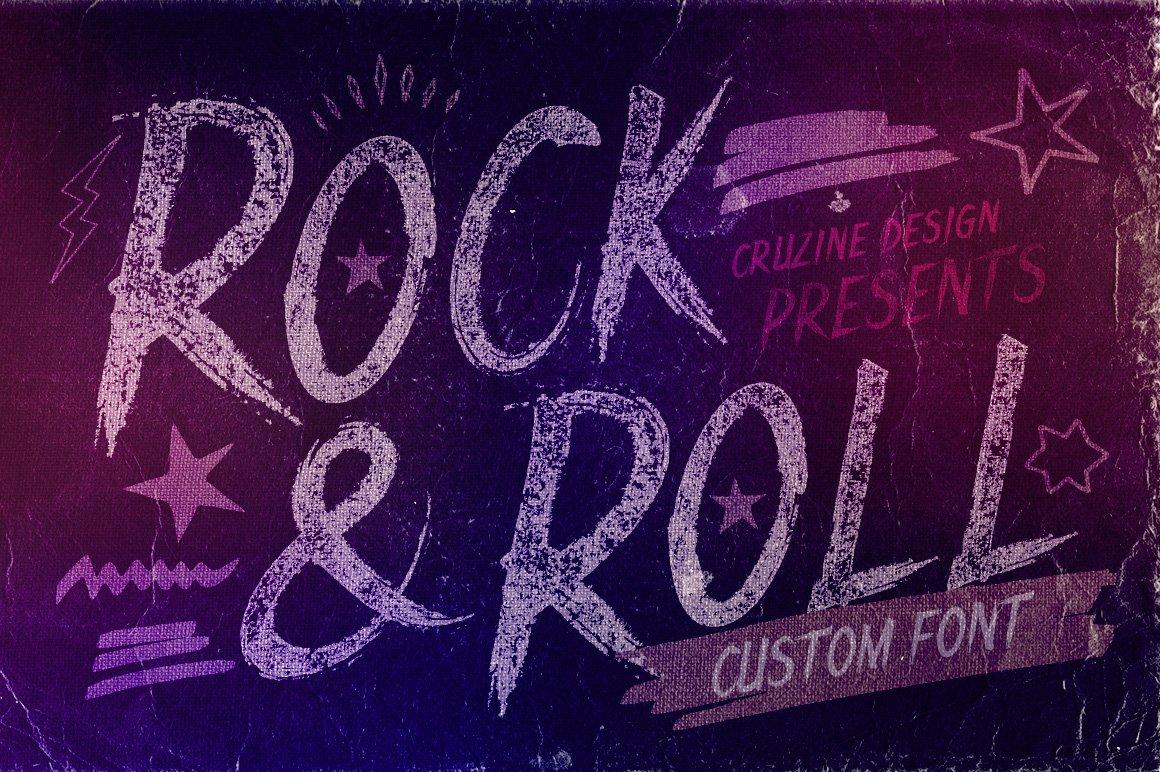 Rocknroll font script fonts creative market