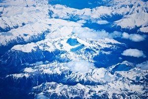 Aerial Of The Alps