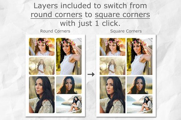 Photo Collage Templates PSD Template ~ Card Templates ~ Creative Market