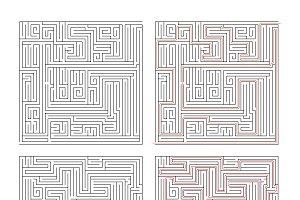 Two mazes of high complexity