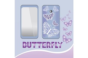 Smartphone butterfly