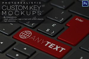 Custom Key on Keyboard Mockups