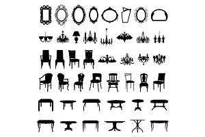Set of Different Furniture
