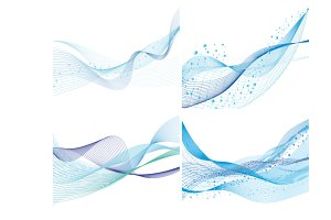 Abstract water background set