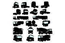 Collection of high detail trucks