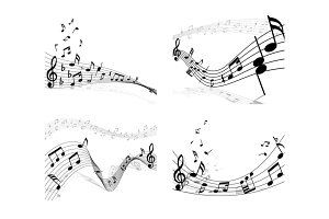 4 Musical Designs Set