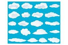 Clouds background set