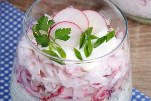 Salad of radish and cucumber