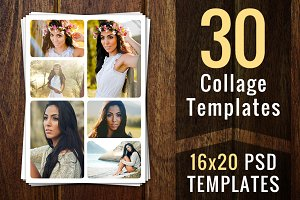 Photo Collage Templates PSD Template