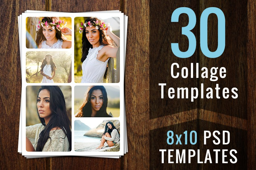 photography templates photo collage card templates creative market