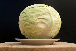 cabbage -like globe on plate