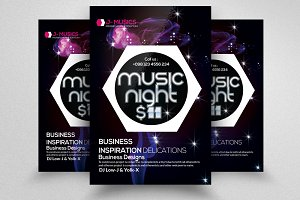 Music Night Flyer Templates