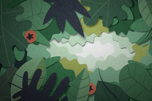 Green animated looped HD headers