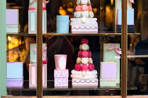 tasty macaroons cakes sweets