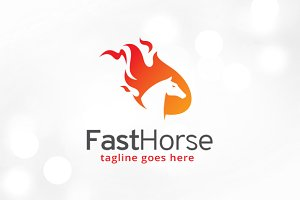 Fast Horse Logo Template