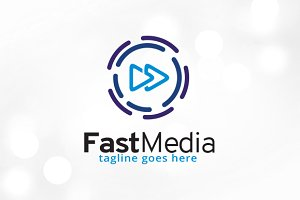 Fast Media Logo Template