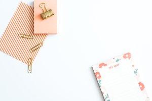 Styled Stock Photo - Desk & Notebook