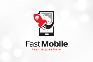 Fast Mobile Logo Template