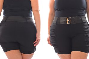 XXL woman black short