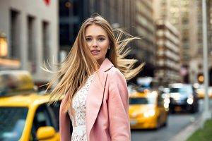 blonde girl with flyaway hair
