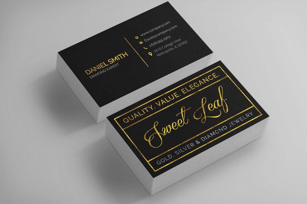 Gold Foil Business Card Template ~ Business Card Templates ...