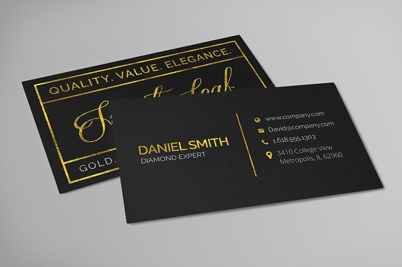 Gold foil business card template business card templates gold foil business card template business card templates creative market reheart Gallery