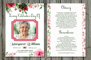 Funeral Program Card Template-V507