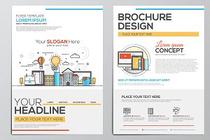 Corporate Brochure Flat Design