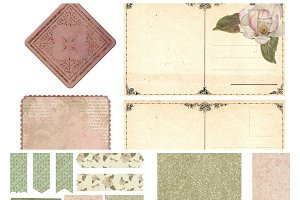 Magnolias Printable Journal Kit