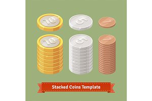 Gold, silver and copper coins