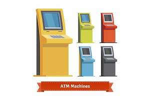 Colorful ATM Machines