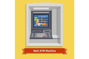 Wall mounted outdoor ATM machine