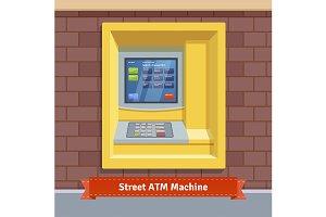 Street ATM machine