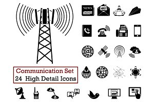24 Communication Icons
