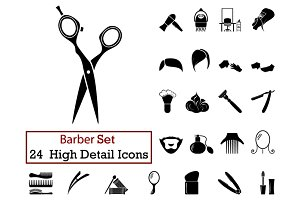 24 Barber Icons