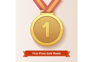 First place award gold medal