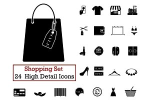24 Shopping icons