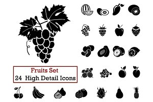 24 Fruits Icons