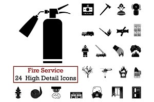 Set of 24 Fire service Icon