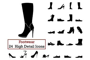 Set of 24 Footwear Icons