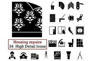 Set of 24 Housing repairs Icons