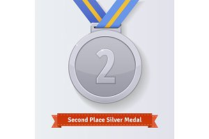 Second place award silver medal
